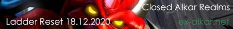 Alkar Games, сервер Diablo II, Ladder Reset 18.12.2020 Banner