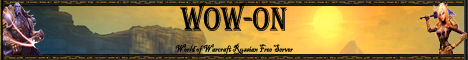 WoW-on Russian Free World of Warcraft Server Banner